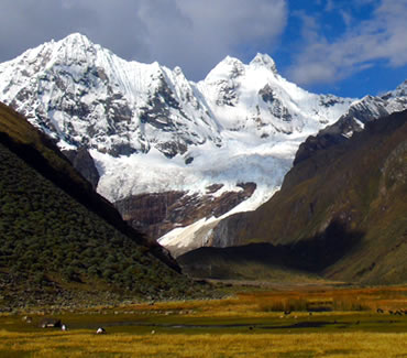 Hirishanca mountain in the Cordillera Huayhuash