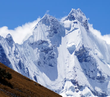 Hirishanka mountain in the Cordillera Huayhuash