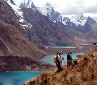Three lakes in the Cordillera Huayhuash